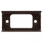 00802 Black 2 Screw Bracket Mount