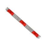 15741R Red Identification Light Bar with Stainless Steel Base
