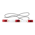 MC99RB Red Identification Light Bar with White Steel Base