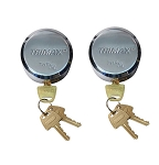 THP2XL 2 Pack Keyed Alike Hockey Puck Style Lock
