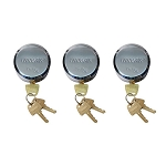 THP3XL 3 Pack Keyed Alike Hockey Puck Style Lock
