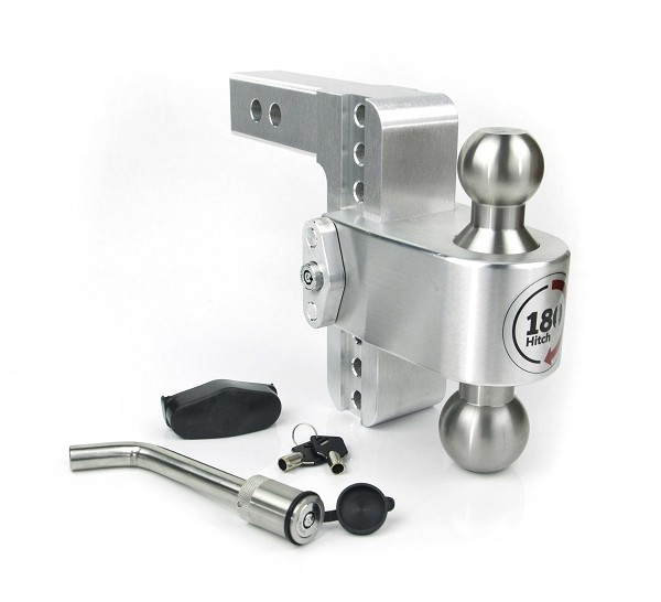 "LTB6-2-KA 2"" shank - 6"" Drop/7"" Rise Stainless combo ball 180° Adjustable Hitch w/Locks"
