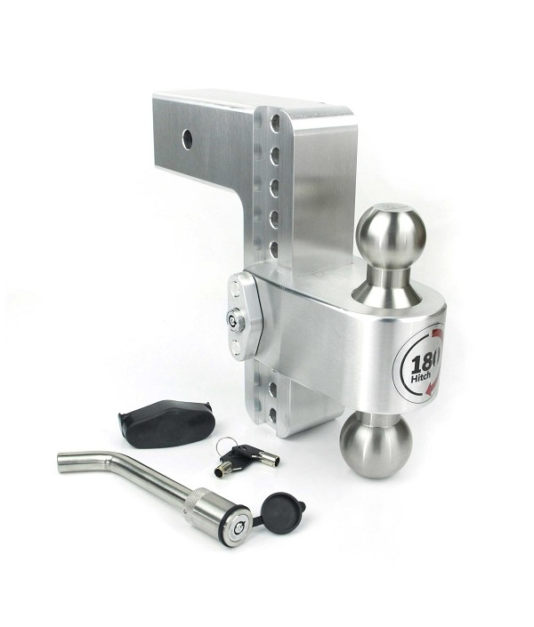 "LTB8-3-KA 3"" Shank - 8"" Drop/9"" Rise Stainless combo ball 180° Adjustable Hitch"