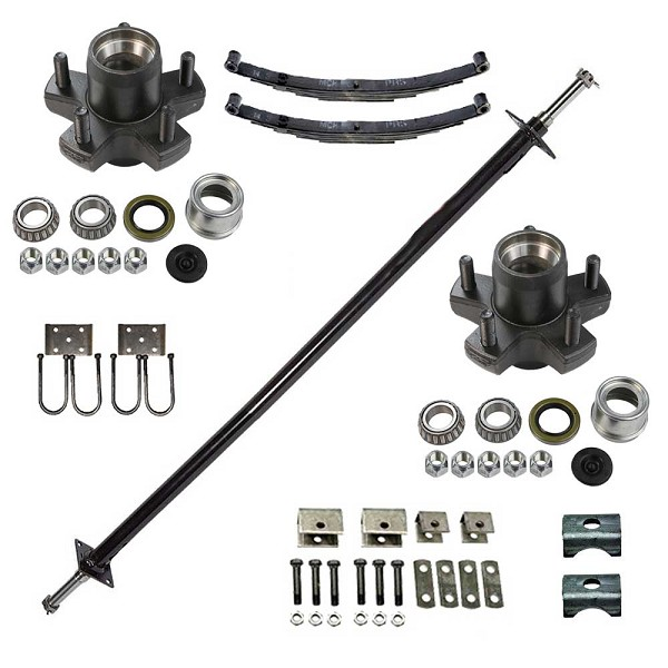 TS2000SI Straight 2000 lb Capacity Axle Package with Idlers