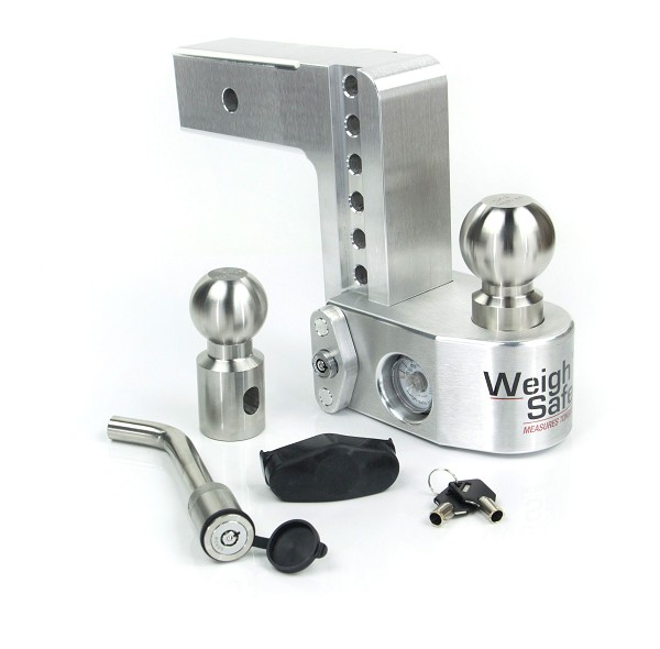 "WS6-2.5-KA 2.5"" shank - 6"" Drop/7"" Rise Weigh Safe Adjustable Hitch w/Tongue Scale"