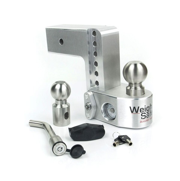 "WS6-3-KA 3"" shank - 6"" Drop/7"" Rise Weigh Safe Adjustable Hitch w/Tongue Scale"