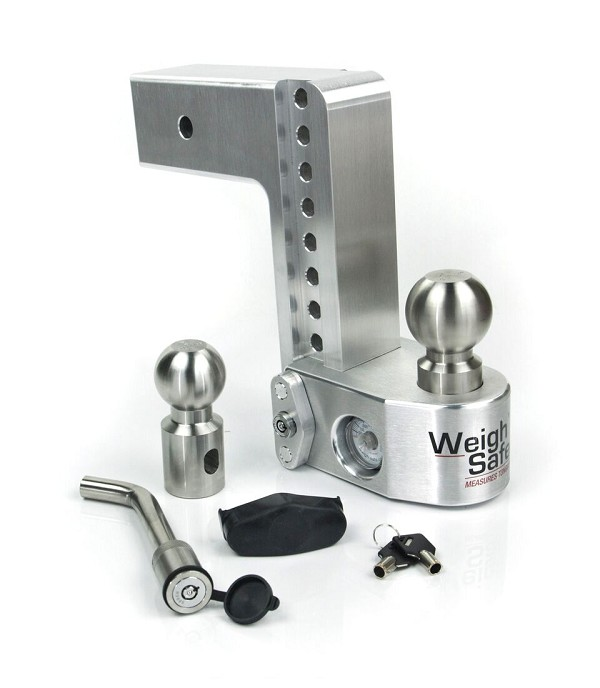"WS8-3-KA 3"" shank - 8"" Drop/9"" Rise Weigh Safe Adjustable Hitch w/Tongue Scale"